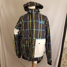 Nomis Mens Jacket Large Simon Signature Hooded Snowboard Ski Outdoor Black Plaid