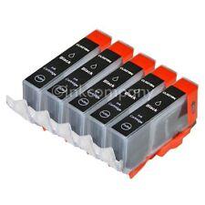 5 CANON Patronen mit Chip CLI-521 black MP 550 MX 860 MX 870 MP 620 NEU
