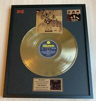 The Beatles Revolver Vinyl Gold Metallized Record Mounted In Frame