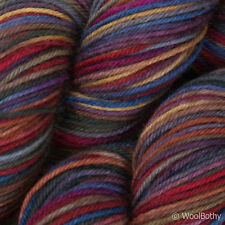 * 100 G * a mano teñido de Lana Calcetín británico * 4 capas de color Rojo Gris Multi-hilo de ganchillo encaje.