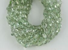 Natural Green Amethyst Gemstone Coin Shape 7-11 MM Smooth Beads Making Jewelry