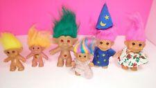 Vintage Mixed Troll Doll Figure Lot - Treasure Troll RUSS Wizard Uneeda Rainbow