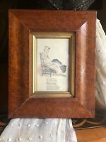 Antique Grain Painted Birdseye Maple Picture Frame American Circa Mid 1800's