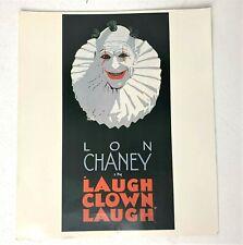 "Laugh Clown Laugh - Lon Chaney cult horror movie poster print 11"" x 12.5"""
