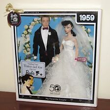 Wedding Day Barbie & Ken Giftset NRFB 1959 My Favorite Couple Repro #P6750