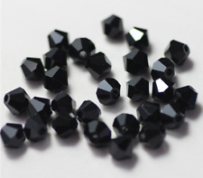 100pcs black exquisite Glass Crystal 4mm #5301 Bicone Beads loose beads,