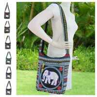Thai Elephant Cross Body Bag Hippie Hobo Sling Ikat Boho Shoulder Aztec Purse