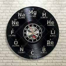 Vinyl Sticker Wall Art Decor Mural Atom Nuclear Science Phisics Chemistry Clock