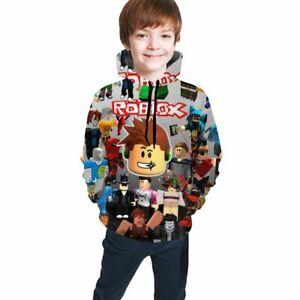 Roblox Characters Print Kids Boys Teen Pullover Hoodies Casual Sweatshirts 1-14
