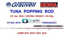 GRAUVELL KONA 8ft TUNA POPPING ROD BIG GAME SEA FISHING TROLLING BOAT SPINNING