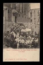 cartolina NAPOLI processione corpus domini chiesa di s. chiara