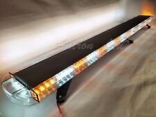 "Roof Top 72"" LED Amber White Lightbar Emergency Strobe Warning Wrecker Tow Truck"