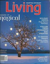 Martha Stewart Living magazine Holiday menus Christmas ideas Trees Ornaments