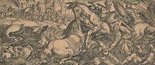 Antonio TEMPESTA gravure estampe bataille 2 chevaux s'attaquant  1605-1621 XVIIe