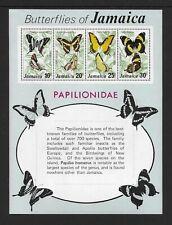 1975 Jamaica Butterflies Minisheet SG MS405 Unmounted Mint
