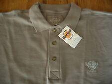 HRC Hard Rock Cafe Athen Athens Polo Shirt Taupe Schilf XXL Brand New Neu NWT
