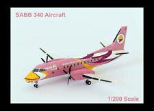 HERPA DIE-CAST 1:200 SCALE  NOK MINI SAAB 340 PINK AIRPLANE AIRCRAFT HSGBD MIP