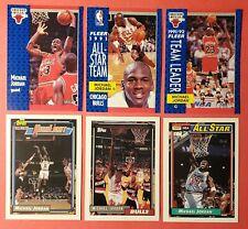 Lot 6- 1991 - 1992 Fleer / Topps Michael Jordan Highlights All Star