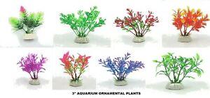 Artificial Green Plastic Plant Aquarium Fish Tank Grass Decoration - UK STOCK