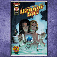 Danger Girl Special 1 DF Exclusive European Edition COA J Scott Campbell on Back