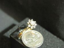 Diamond Cluster Not Enhanced Yellow Gold Fine Rings