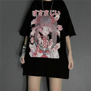 NEW Kawaii Clothing Gothic Eyepatch Lolita T-Shirt Harajuku Punk Black Ulzzang