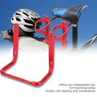 Bicycle Water Bottle Cage Converter Holder Mountain Bike Saddle Double Adapter