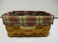 2000 Longaberger Basket 7 Inch with Plastic Insert and Liner