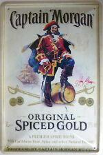 Blechschild Schild 20x30 cm - Captain Morgan Original Spiced Gold Rum