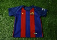 BARCELONA 2016/2017 FOOTBALL SHIRT JERSEY HOME NIKE ORIGINAL SIZE KIDS 24-36 MOS