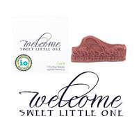 Baby Rubber Stamp Welcome Sweet Little One Cling Stamps Impression Obsession
