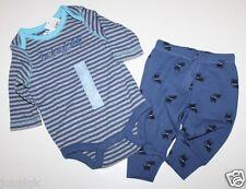 baby Gap Boy's Outfit Set Striped Logo Bodysuit Top + Dog Print Pant