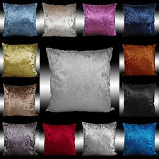 SHINY SMOOTH PLAIN THICK VELVET DECO THROW PILLOW CASE CUSHION COVER 17""