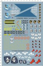 3in1 Detail Up 1/72 USAF F-4 PhantomII F-14A Su-37 Flanker-F Fighter Model Decal