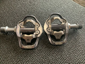 Shimano PD-A600 road cycling SPD clipless pedals pair chrome mountain