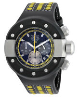 Invicta S1 Rally 19177 Men's Black Analog Round Chronograph Date Leather Watch