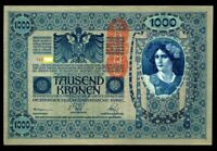 AUSTRIA 1000 1,000 KRONEN 1902 BIG NOTE  UNC