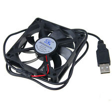 80cm DC FAN 80x15mm Computer/PC/CPU Silent Cooling Case Fan Black 5V 8015 USB