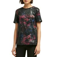 DKNY NEW Women's Sequined Printed Casual Shirt Top TEDO