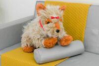 LARGE STUFFED 70CM YORKIE DOG PUPPY TEDDY SUPER SOFT PLUSH CUDDLY ANIMAL BEAR