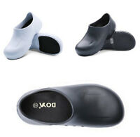 Women Men Chef Shoes Safety Loafers Nurse Slip-Ons Hospital Kitchen Work Clogs