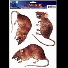 Scary Dimensional 3D-Rat Rodent-Window Sticker Cling Halloween Horror Decoration