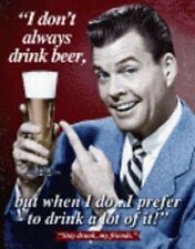 Stay Drunk My Friends Tin Sign Man Cave Wall Art Bar Related  #1740