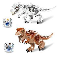 2 X Jurassic Park Dinosaur World Minifigures Tyrannosaurus Indominus Rex Z151 US