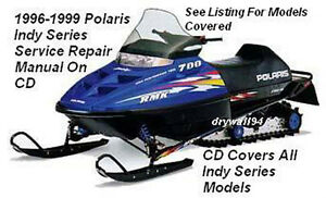 1996 - 1999 Polaris Indy Snowmobile-Indy Series OEM Service&Repair Manual On CD