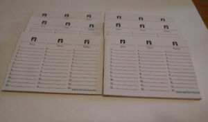 Scattergories Game Replacement Parts Answer Sheets Score Pads 6 Six Partial Pads