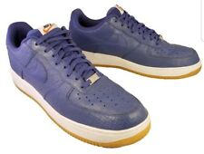 timeless design 54efe 11178 NIKE AIR FORCE 1 ONE BLUE LEATHER CROCODILE SNEAKERS SHOES ATHLETIC SIZE 13  47.5