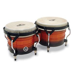 Latin Percussion LP Matador Custom Wood Bongos Sunburst