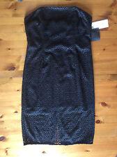 Women's Next Tailored Black Lace Bandeau Dress, Size 12 Petite, BNWT