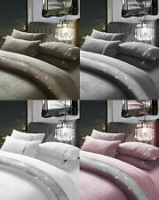 Teddy Fleece Quilt Cover Duvet Set Diamante Lace KASIA with Pillowcase Set